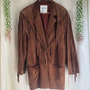 Vintage SFA Festival Suede Leather Fringe Jacket